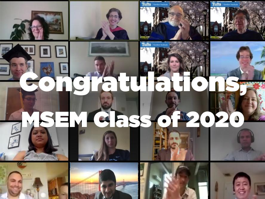 "Graphic with text overlay: ""Congratulations, MSEM Class of 2020"""