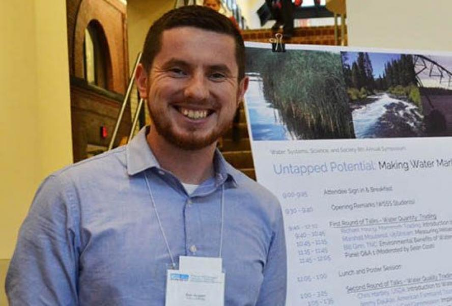As part of his certificate in Water: Systems, Science and Society, Ken Nugent MSEM '17, helped organize a cross-disciplinary symposium on the potential of water markets.