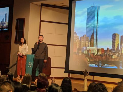 Amanda and Jun present at BU's IDEA conference