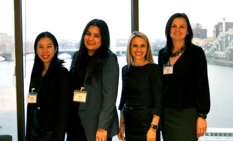 Lana Luo, Syra Arif, Lisa Wyman, Marta Asack - Panelists at the Women in STEM event co-hosted by the Museum of Science