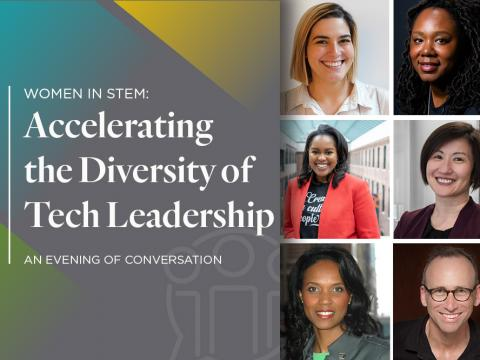 Women in STEM: Accelerating the Diversity of Tech Leadership | An Evening of Conversation | Headshots of featured panelists